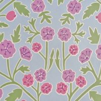 Button Poppy Lavender Blue
