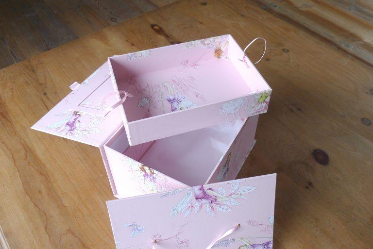 Tall Treasured Memory Box in Flower Fairies Pink