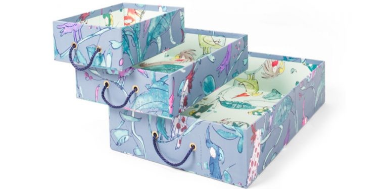 QBPB-TOY-TRAYS-Toy-Sorter-Trays-Shown-in-Quentin-Blake-Parrots-Midnight-Blue