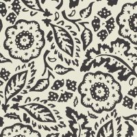 Floral Damask Black And White