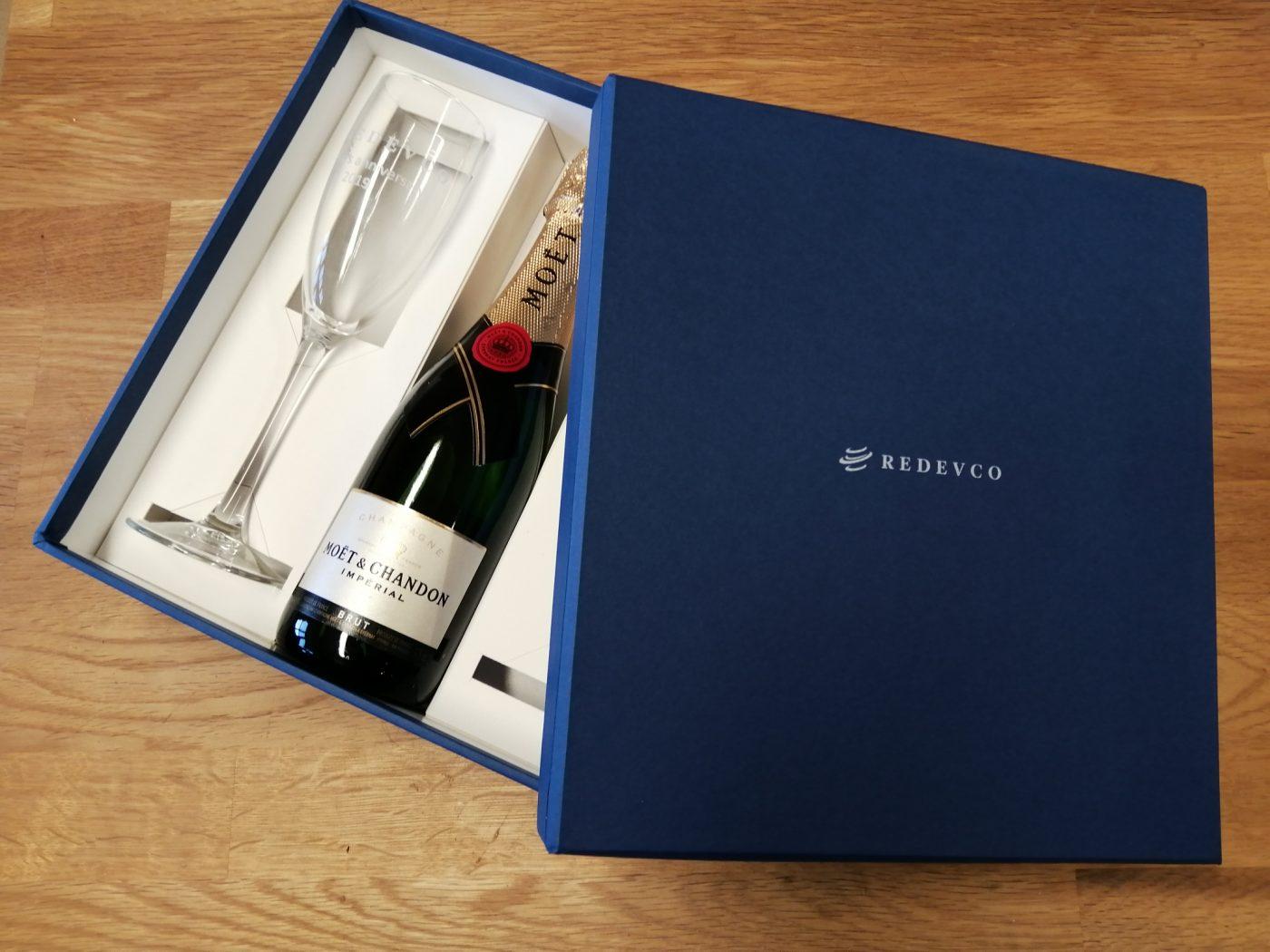 Champagne and Glasses Box