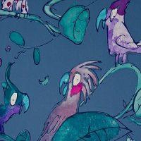 Quentin Blake Parrots Midnight Blue
