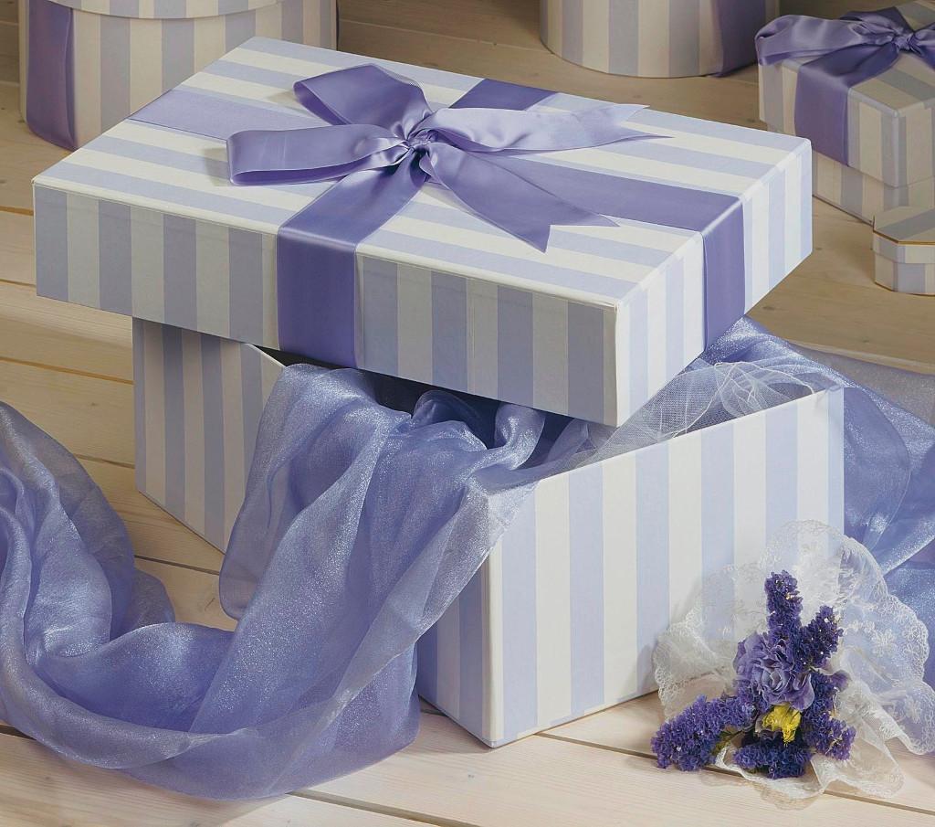 Bridesmaid Box in Parisienne Stripe Lilac