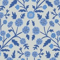 Button Poppy China Blue